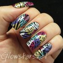 Leopard and zebra print on a holo patchwork