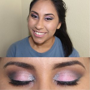 neutrals with a pop of a neon coral and some silver glitters in the inner corners. :) my favorite eye look I've ever done. Instagram @gizellemarie_