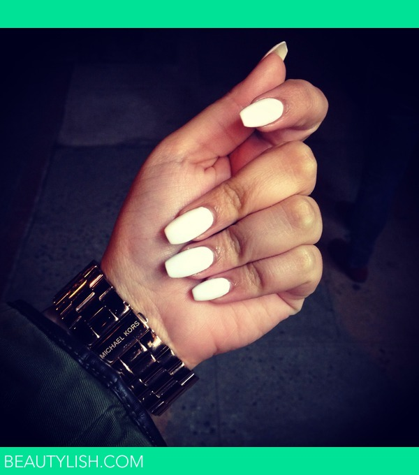 All White Nails Jazzmyn Z S Photo Beautylish