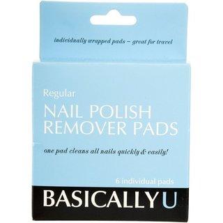 Basically U Acetone Nail Polish Remover Pads 6 ct.