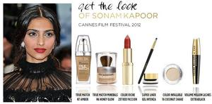 This Red Carpet look of Sonam Kapoor created by billy b for L'oreal Paris - Cannes Film Festival 2012