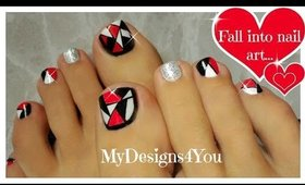 Retro Mosaic Toenail Art Design  ♥