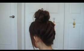 Gyaru Upside Down Braided Bun
