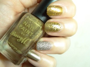 More info on the blog - http://thesortinghouse.co.uk/nails/12-days-christmas-manis-gold-member/