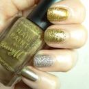 Gold Mix Nail Art