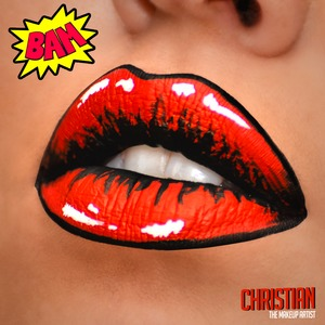 Red Pop Art Lips Done freehand with Different makeup and body paint