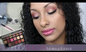 Huda Beauty Eyeshadow Palette Makeup Tutorial | First Impression + Demo | Mo Makeup Mo Beauty