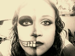 This was a pic from a couple of years ago. I absolutely love Halloween! :-)