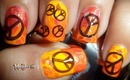 ☮ Bright Orange Peace Nails! - BornPretty Store Stamping Review + Tutorial