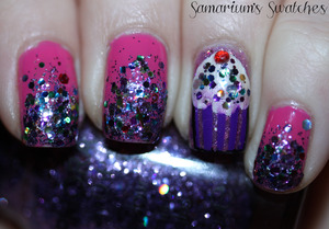 My 23rd Bday mani!  http://samariums-swatches.blogspot.com/2012/01/my-belated-birthday-nails-haircut.html