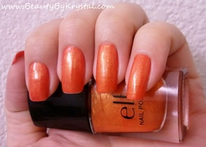 ELF - Fire Coral, NYX pigment in Orange mixed into ELF Clear polish