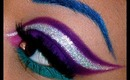 Purple, Turquoise, Glitter, and Blue Brows!