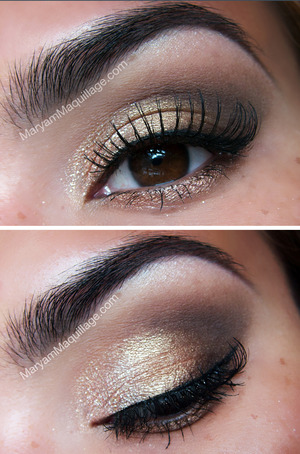 Simple eye look using shimmery neutral shadows. All info plus how-to: http://www.maryammaquillage.com/2012/08/natural-every-day-shimmer-eye.html