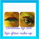Glitter Christmas Eyes and Lips