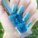 Beautiful Glittery Transition Nail Design