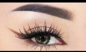 EASY Fox Eye Lift Eyeliner Makeup Tutorial for Beginners   Kendall Jenner Cat Eyeliner Look!
