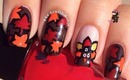 Fall Leaves Thanksgiving Nails by The Crafty Ninja