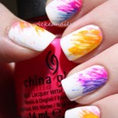 Toothpick Neon Nails