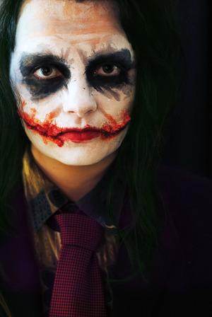 My version of The Joker from The Dark Knight! xo