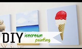 How To Paint Ice Cream W/ Acrylic 3 or 3 | ANNEORSHINE