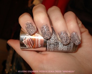 Notd using the new Nails Inc. Sprinkles Polish in Sugar House Lane