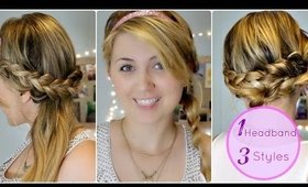 Three Easy Heatless Braided Hairstyles With Headbands