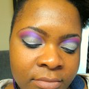 Purple & Silver Look