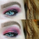 Red and Purple Eye Look