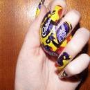 Creme Egg Nail Art