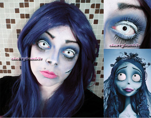 Just a simple makeup to halloween. Corpse Bride inpired look. Model photo makeup all me.