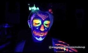 1 minute Neon Sugar Skull!