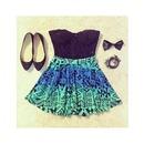 Cute Blue Aztec Skirt