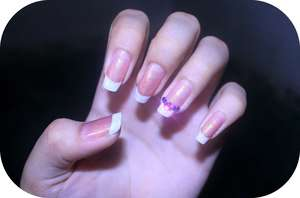 French tip with a twist ; )
