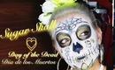 ☠Dia De Los Muertos Day of the Dead Gold Sugar Skull Makeup Tutorial☠