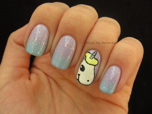 FOR MORE PHOTOS CLICK HERE: http://arvonka-nails.blogspot.sk/2012/10/unicorn.html
