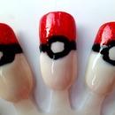 Pokémon Pokéball Nails