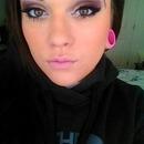 Maroon eyes Pink lips