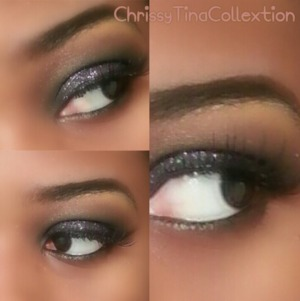 ig :@chrissytinacollection version of a Smokey eye. of course a Smokey can consist of any color but I kept the traditional black.