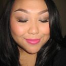 Soft Brown Smokey Look W/Pink Lips!