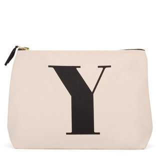 Natural Wash Bag Letter Y