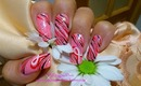 Breast cancer Awareness Nail Art Design Tutorial - ♥ MyDesigns4You ♥