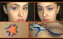 Broncos Inspired Makeup Tutorial (Superbowl XLVIII)
