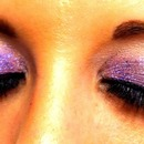 Purple glitter eyes