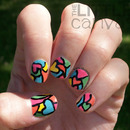Stained Glass Heart Manicure