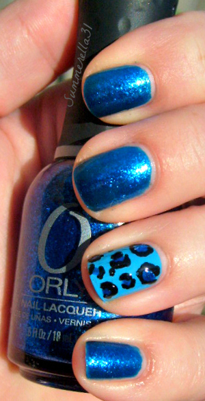Orly Stonecold, Sinful Colors Why Not and a black nail art pen