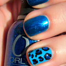 Blue Leopard Nails