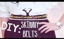 ☂DIY: Simple Leather Skinny Belts {Hand Sew Approved}