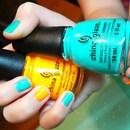 Turquoise  Sunshine / China glaze / Aqua / Yellow