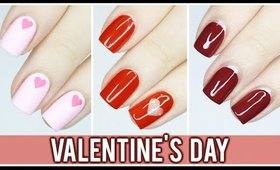 3 Minimalist Valentine's Day Nail Art Designs!