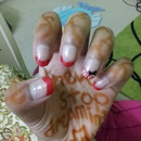 Minnie Mouse French mani